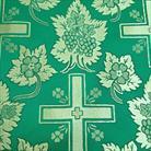 Ажурный крест зеленый/золото