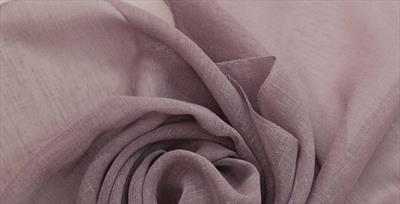 Тюль лен пыльная роза