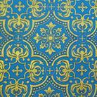 Василия голубой/золото
