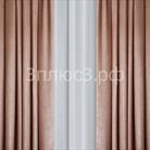 """Портьера """"Велюр""""  цвет - пудровый"""