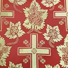 Ажурный крест бордо/золото