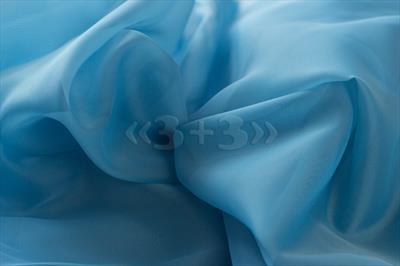 Вуаль темно-голубая