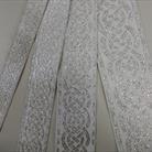 Галуны 2, 3, 4, 5.5 см белый с серебром